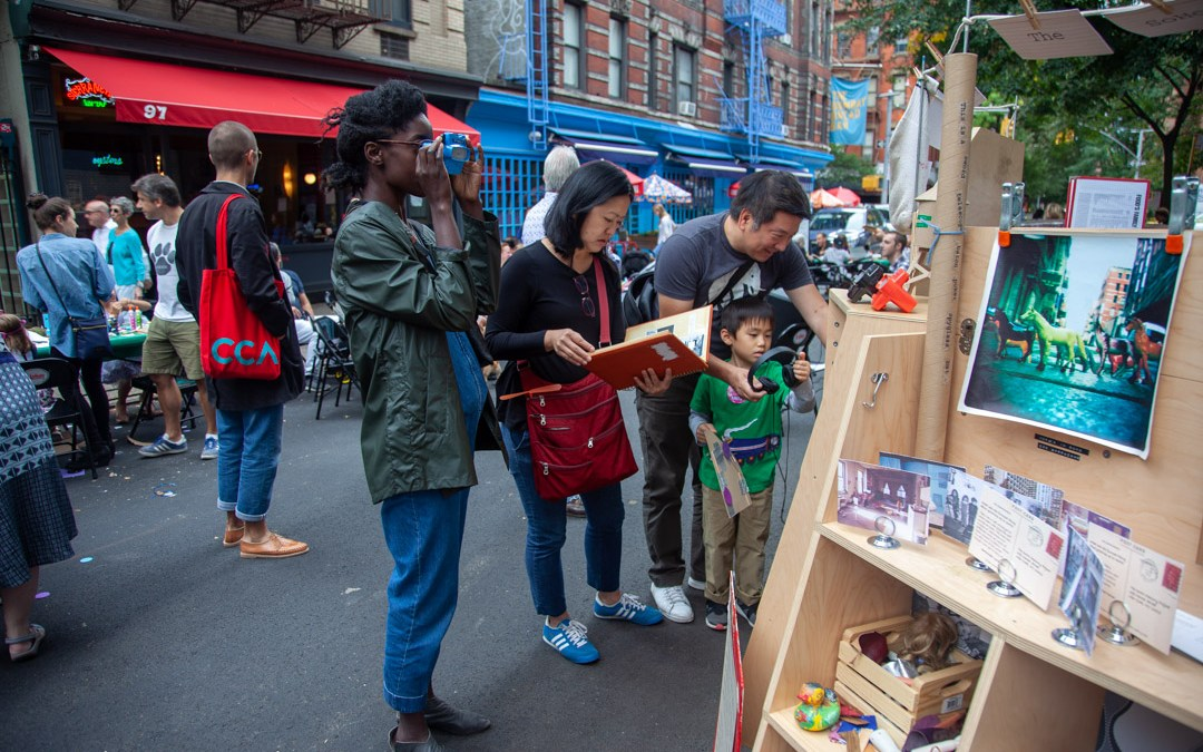SoHo Memory Project's portable museum on the street