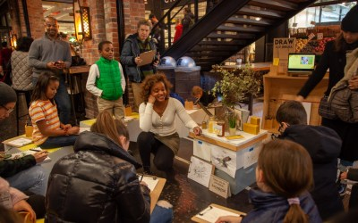 Drawing and learning about bees at Chelsea Market