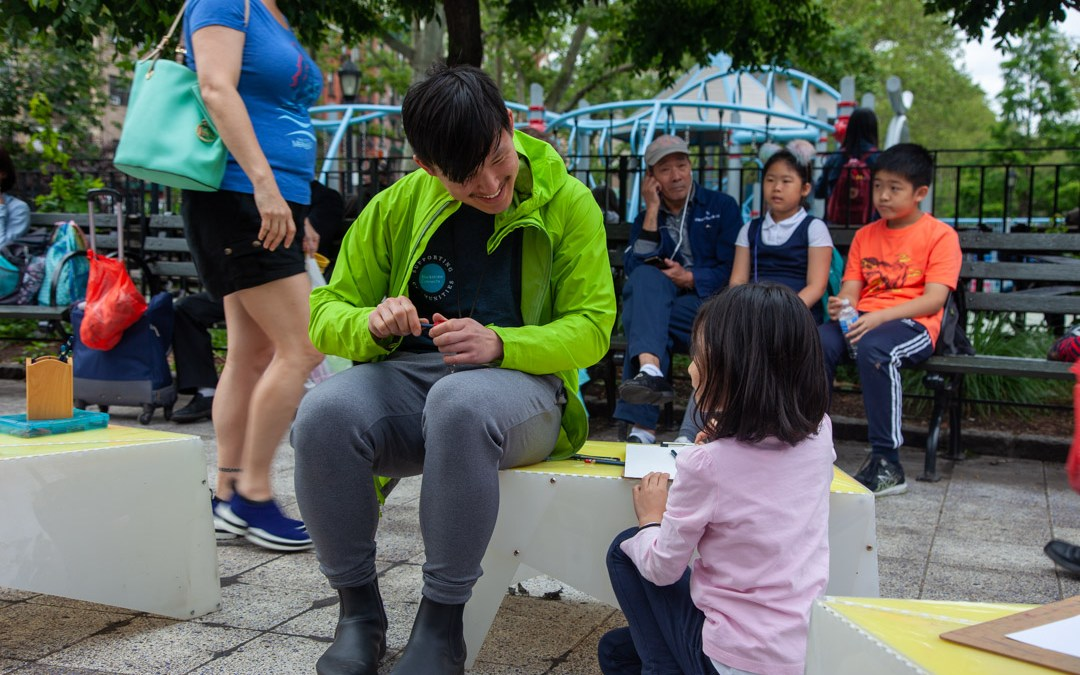Volunteers from Blackstone give kids a chance to BUILD and EXPLORE in Chinatown