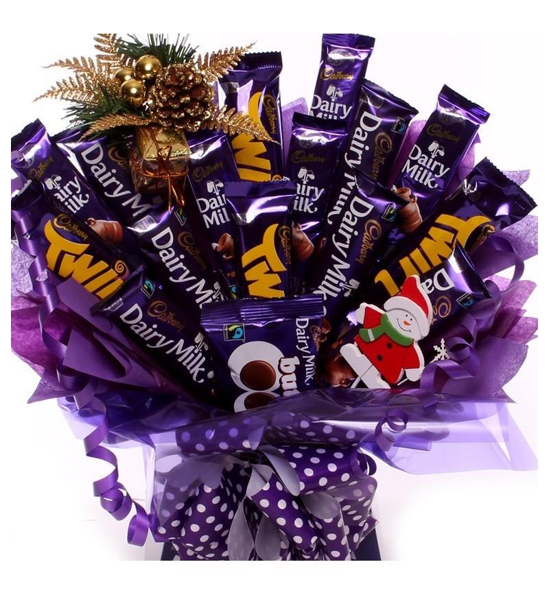 Christmas Cadbury's Chocolate Bar Bouquet