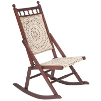 Beautiful Edwardian Antique Folding Rocking Chair - The ...