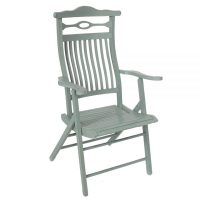 Shabby Chic Painted Edwardian Folding Campaign Chair - The ...