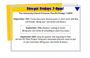 Fire pit Fridays