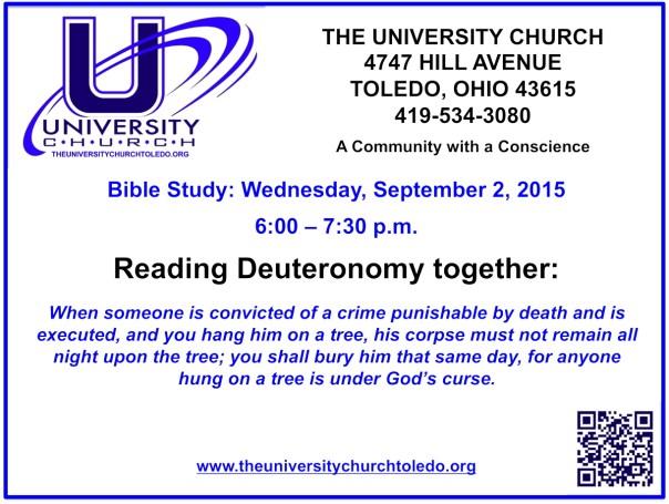 September 2 2015 Bible Study