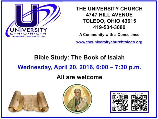 April 20 2016 Bible Study