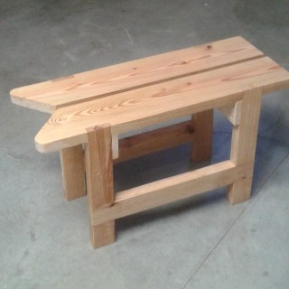 Reclaimed Lumber for a Sawyer's Bench