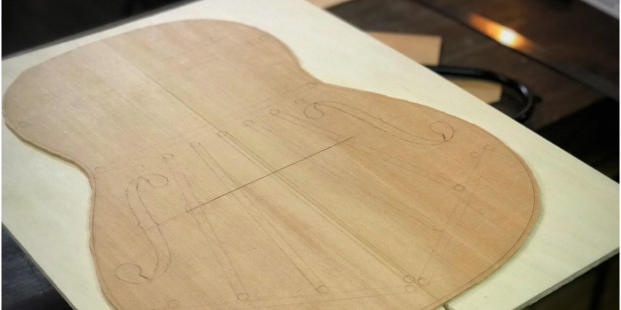 Episode 625 – Cutting the Guitar Top & Plotting the Bracing