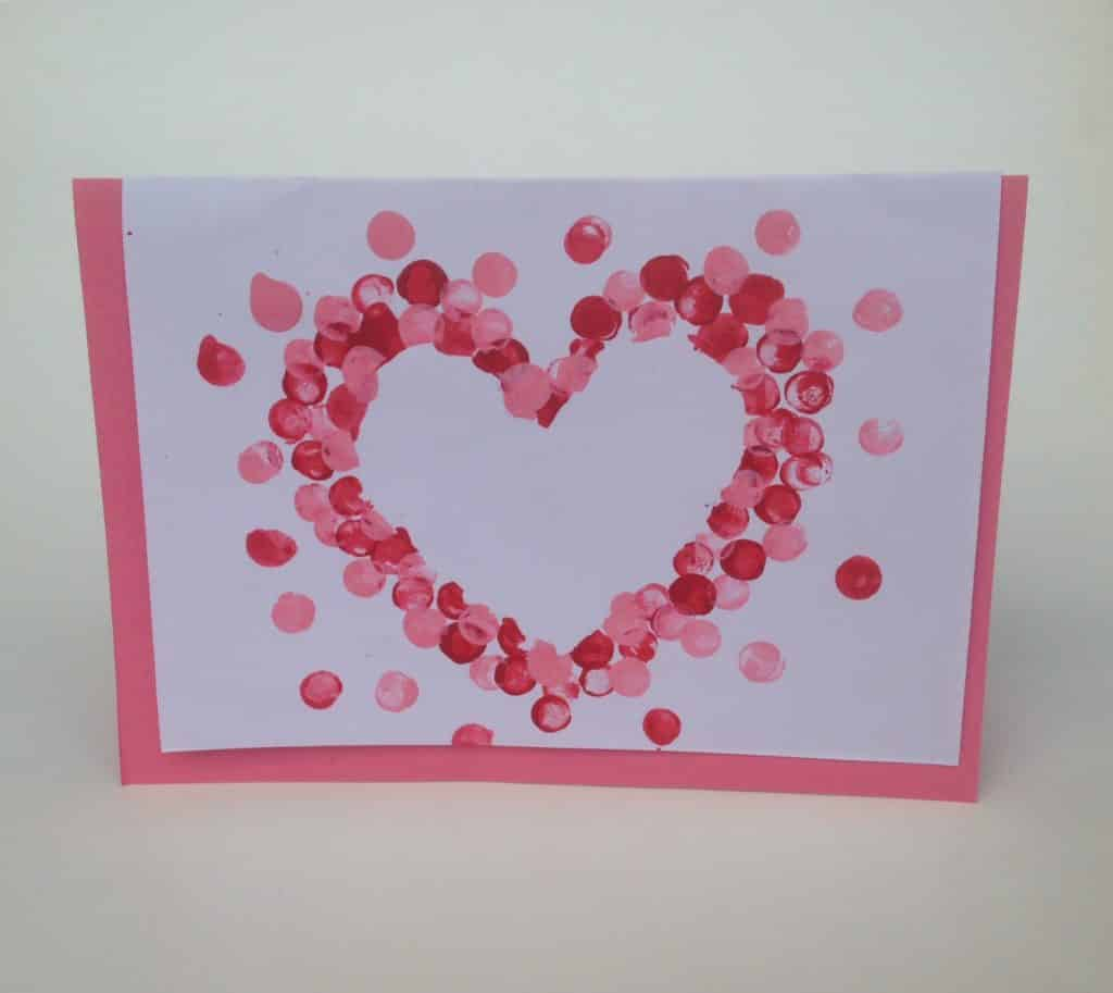 Valentine S Craft Polka Dot Heart Card