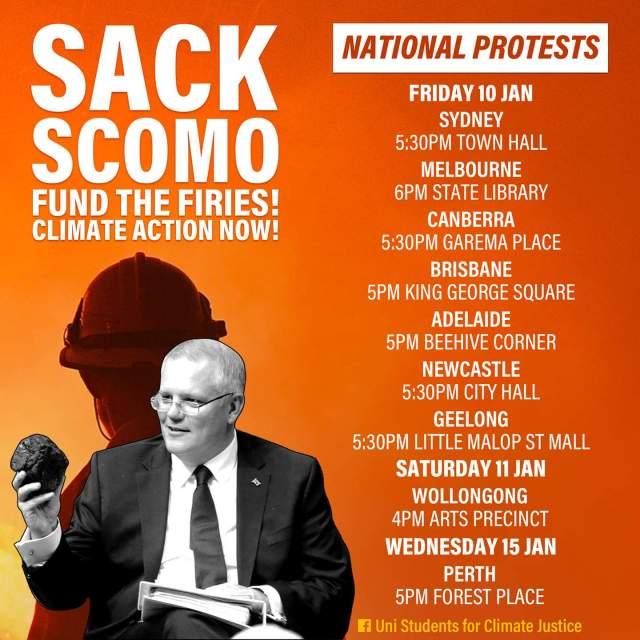 Socialist Alternative poster for anti Morrison rallies