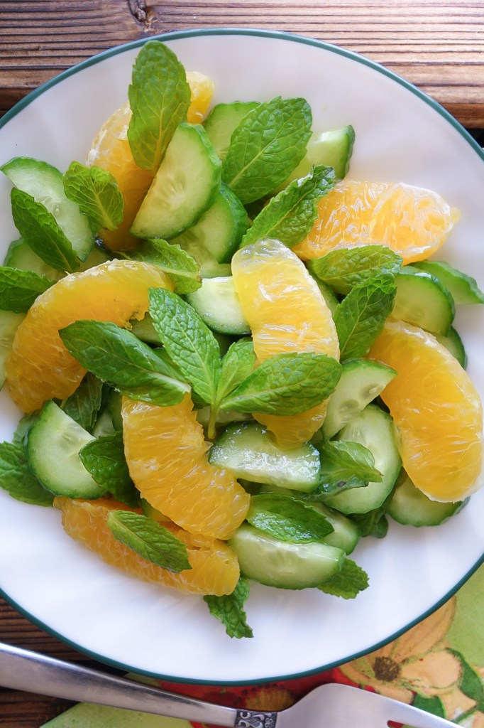 orange cucumber salad AIP