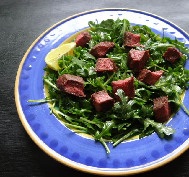 steak arugula salad AIP