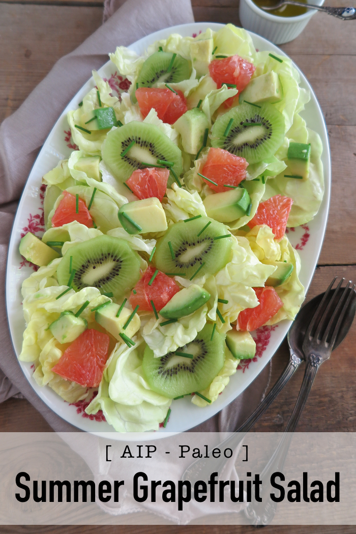 summer grapefruit salad AIP