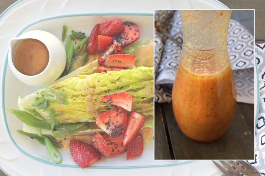 Strawberry Caramelized Onion Vinaigrette paleo AIP autoimmune protocol whole30