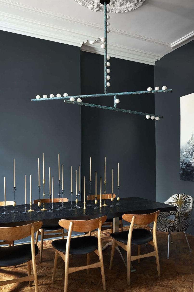 Black dining area decor ideas