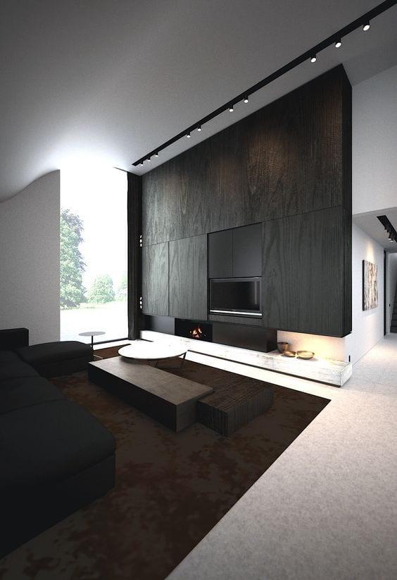 Black living room Tv units ideas