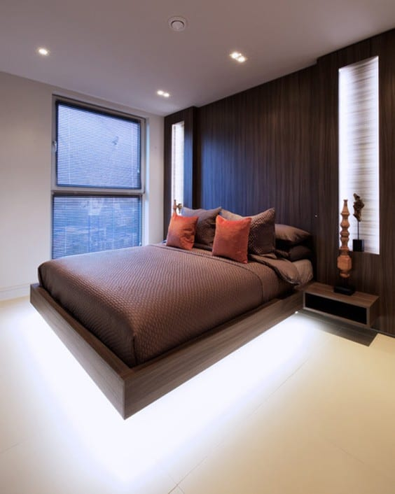 Brown _ Bright bedroom ideas for men