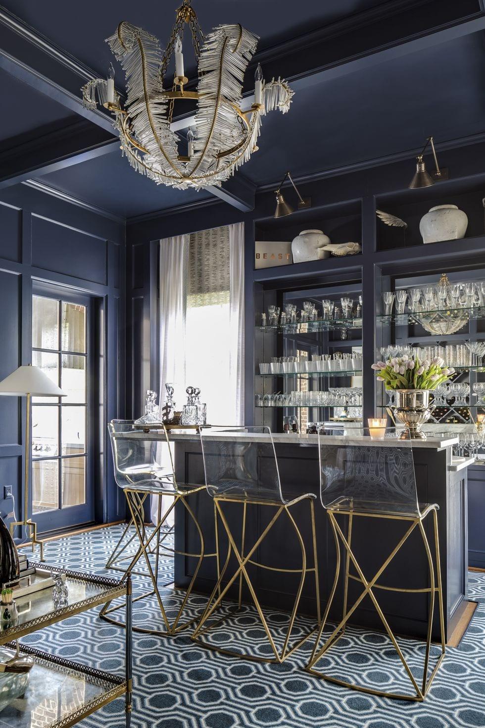 Elegant modern home bar design ideas