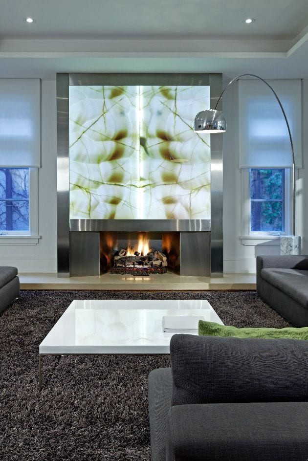 Fireplace decor ideas in lavish houses