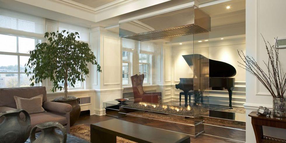 GLASS BOX fireplace decor ideas