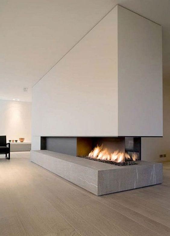 Modern fireplace decor ideas in 2019