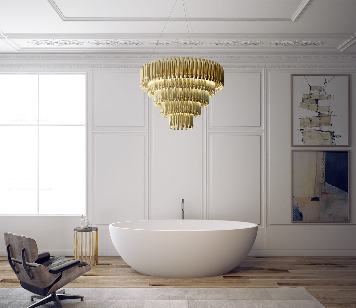 Oval bathtub design ideas