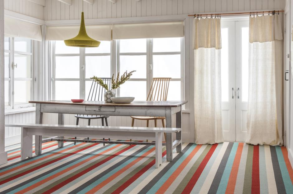 Striped carpet flooring ideas