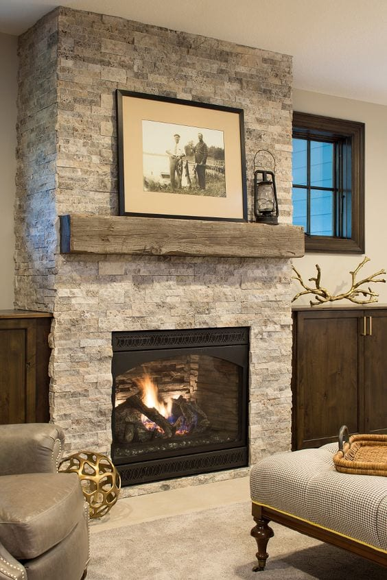 Traditional look fireplace decor ideas