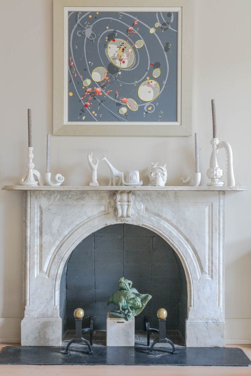 WHITE MARBLE fireplace decor ideas