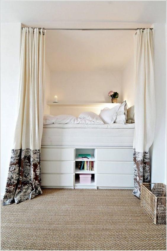 All White Bed Storage Ideas
