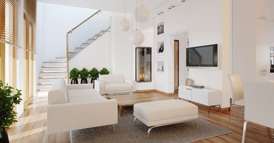 All White Living Room Design Ideas!
