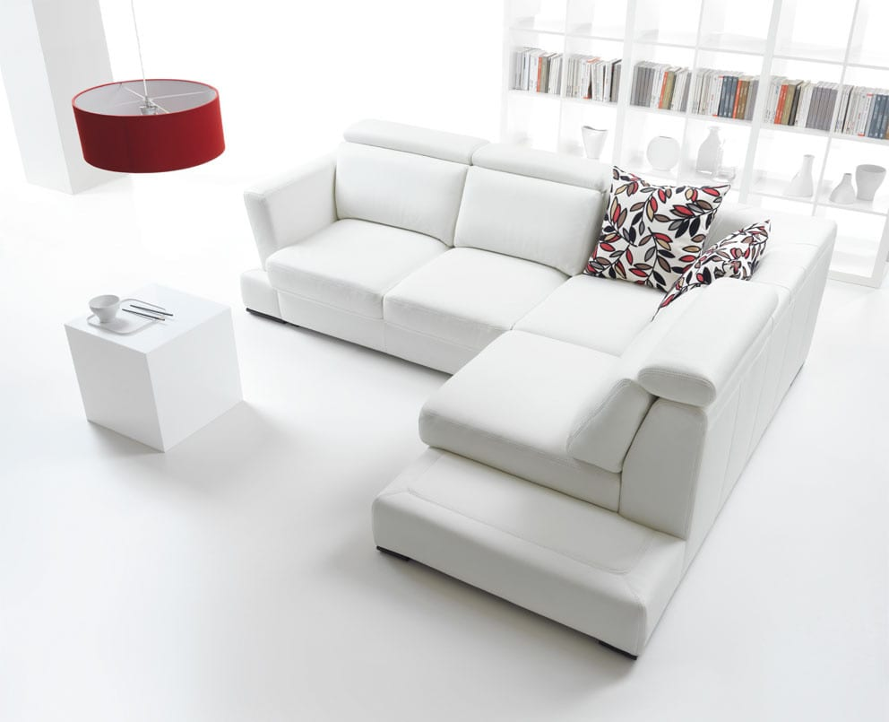 All white living room decor ideas with sofa