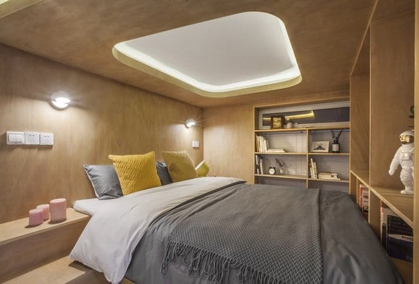 Bedroom Shelves Design Photos And Ideas with lights