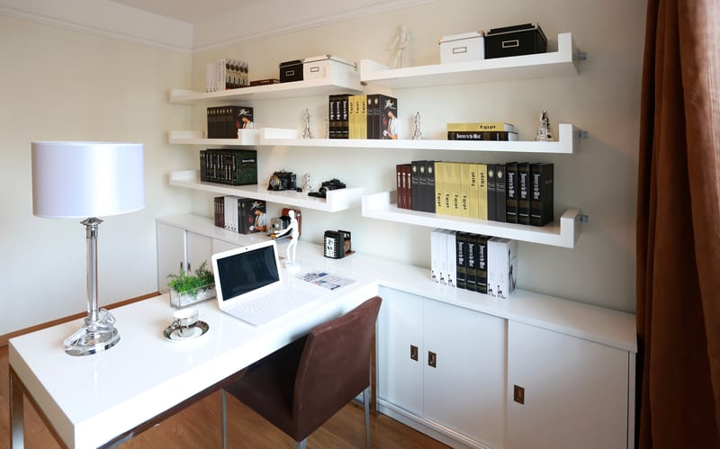 Cabinets and shelves study room design ideas