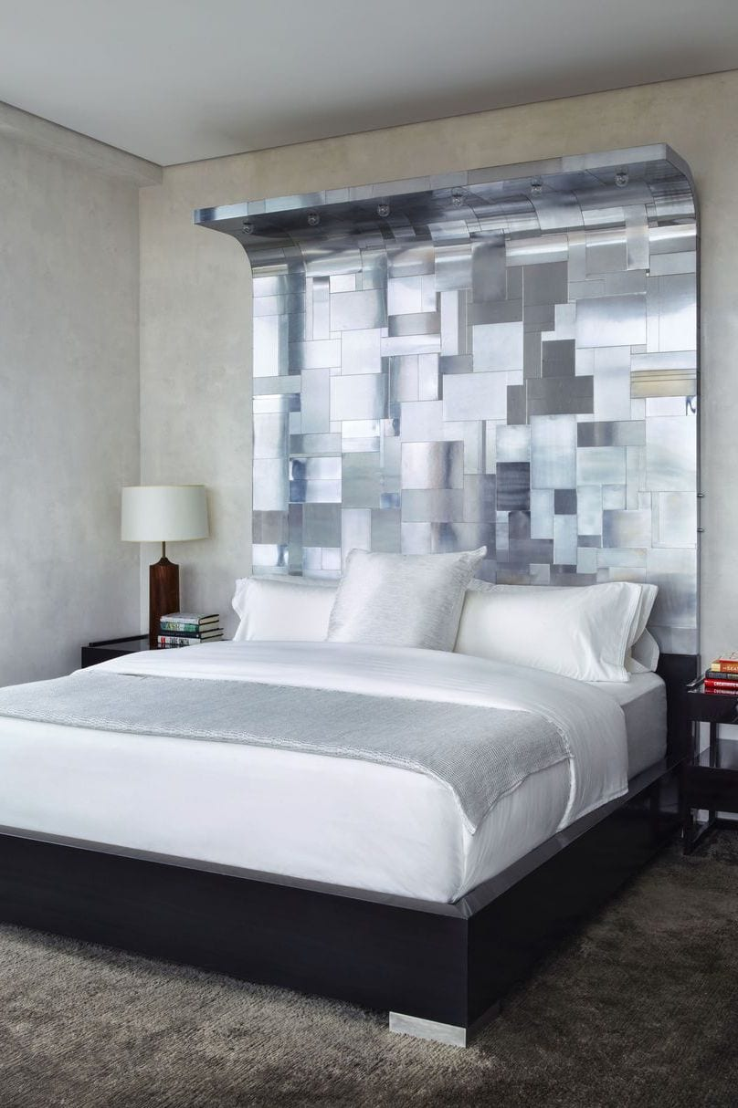 Chrome bedroom headboard design ideas