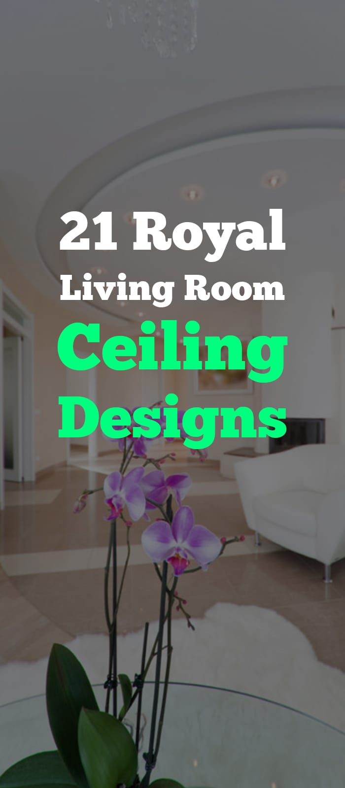 Circular tray ceiling for living room.