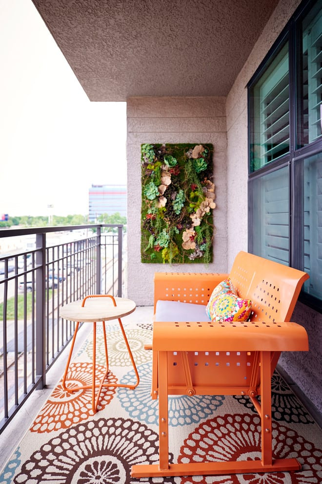 Colorful Balcony Design Ideas