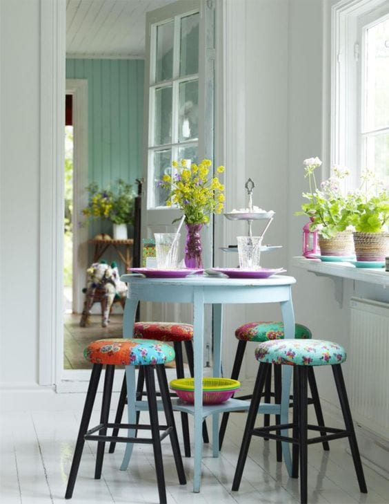 Colorful dining room decor ideas