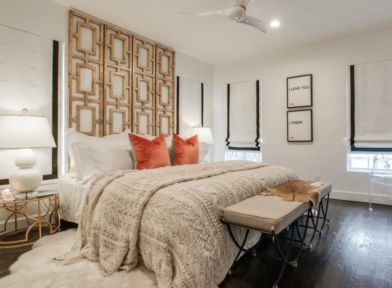 Converted Room Divider as a Headboard ideas