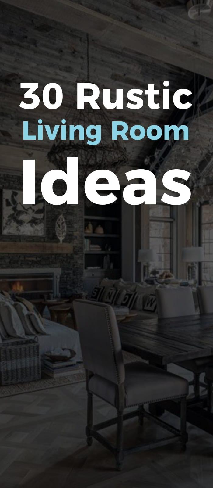 Creative rustic living room decor ideas.
