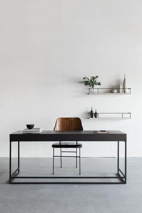Desk in a living room decor ideas