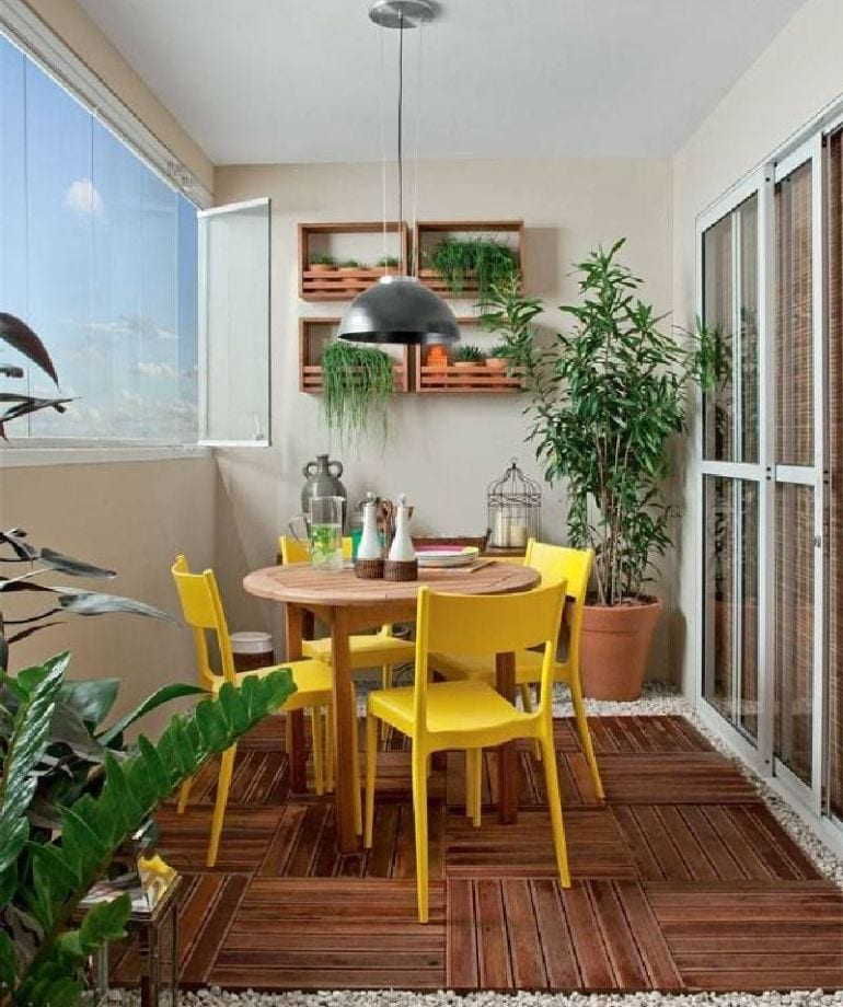 Dining Table In Balcony Ideas