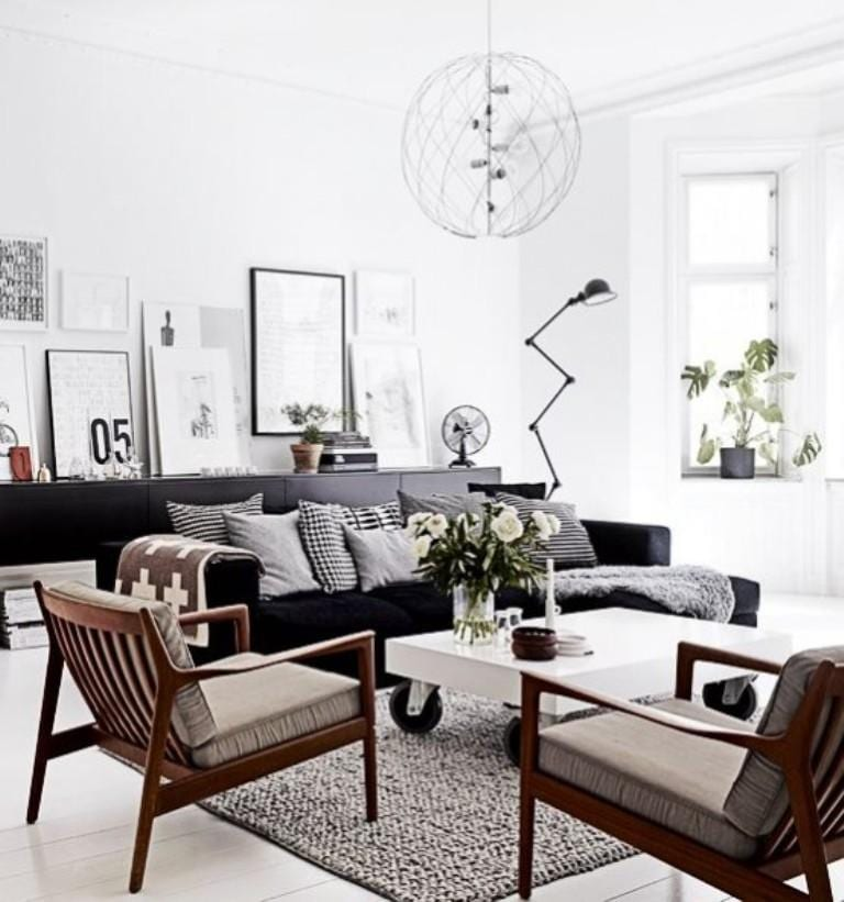 Dramatic Scandinavian Living Room design ideas