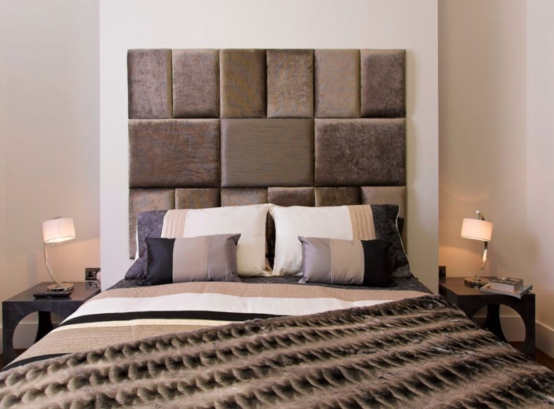 Fabric Mosaic bedroom Headboard ideas