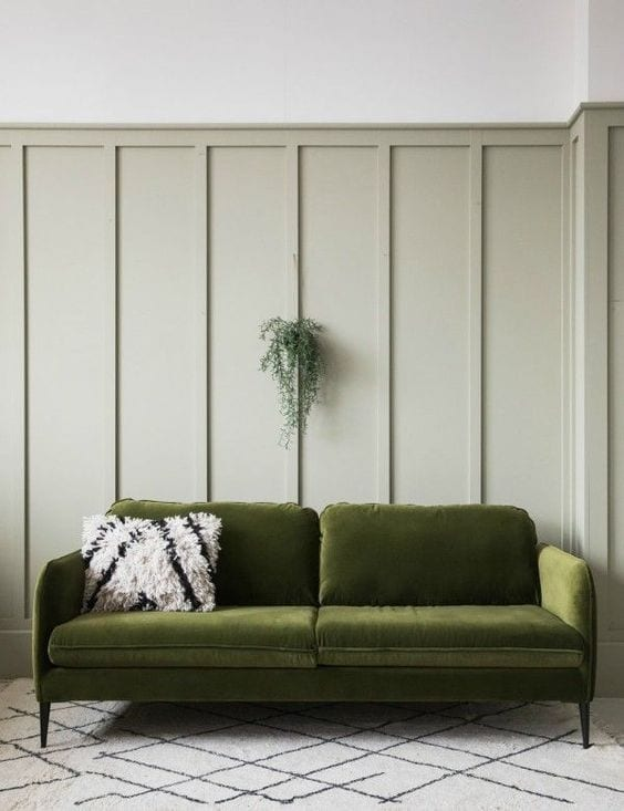 Green living room sofa ideas