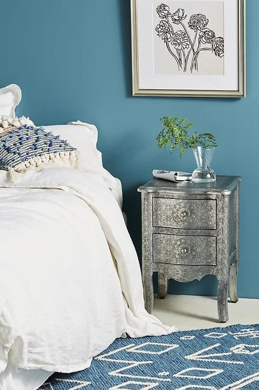 Hand-Embossed Nightstand for bedroom design ideas