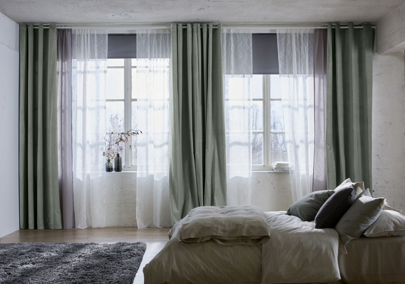 LAYER FABRICS for bedroom curtains designs