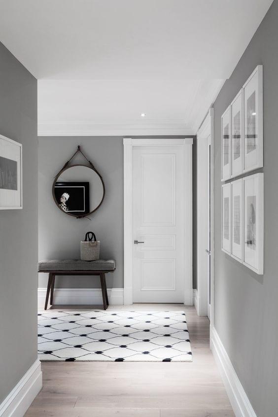 Light oak & grey living room color ideas