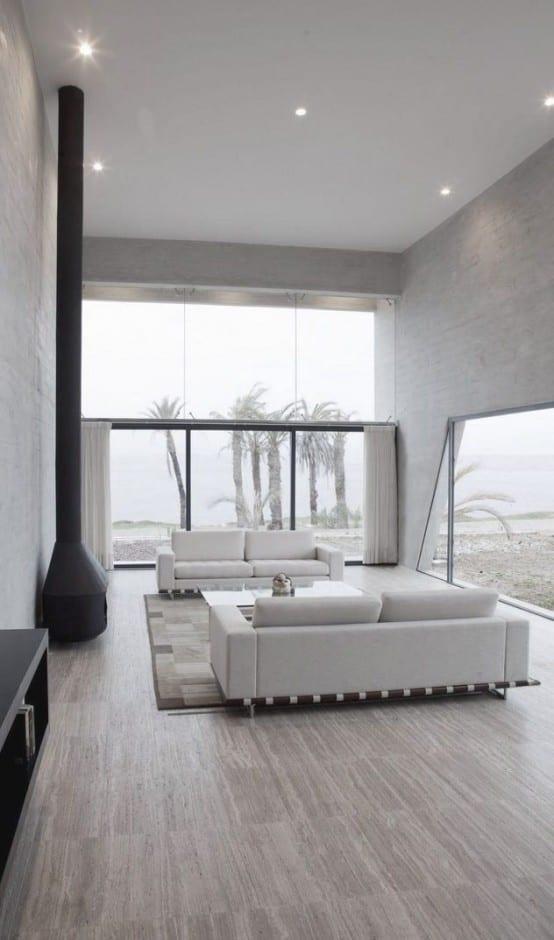 Living room by the beach minimal decor ideas