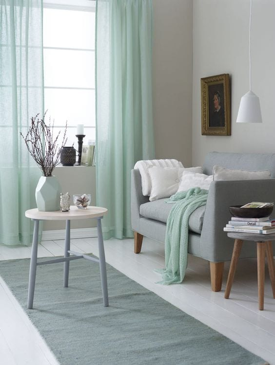 Minty Shades living room paint color ideas