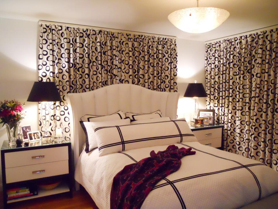 Printed curtains for bedroom designs